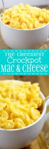 Crockpot Mac and Cheese Recipe - This delicious and easy crockpot macaroni and cheese recipe is so cheesy! It's seriously the BEST crockpot macaroni and cheese recipe I've tried! And it's a cheap and easy dinner idea too!