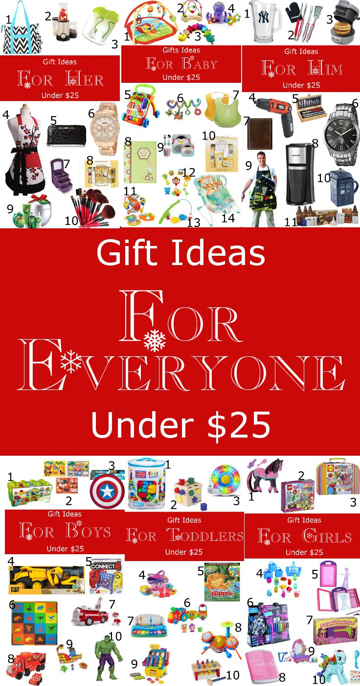 Gift Ideas for EVERYONE under $25! Him, Her, Babies, Toddlers, Girls, and Boys! All under $25! Plus a chance to win a $400 Amazon Gift card! From TheGraciousWife.com #Christmas #giftideas