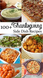 Over 100 of the best Thanksgiving Side Dish Recipes! Make your Thanksgiving feast fabulously delicious with these amazing side dishes. Breads, potatoes, vegetables, and more. There's a little something of everything. Seriously amazing list.
