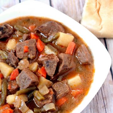 This Slow Cooker Beef Stew is a classic with a couple extra twists, such as apple cider and steak sauce, making it unique, tender, and flavorful. An easy dinner crockpot recipe idea for the whole family. Just throw it in the crockpot and you'll have tasty beef stew by dinner time.