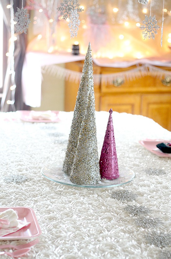 Winter ONEderland Birthday Party Ideas With Snowflakes Sparkles And Tulle Fit For A
