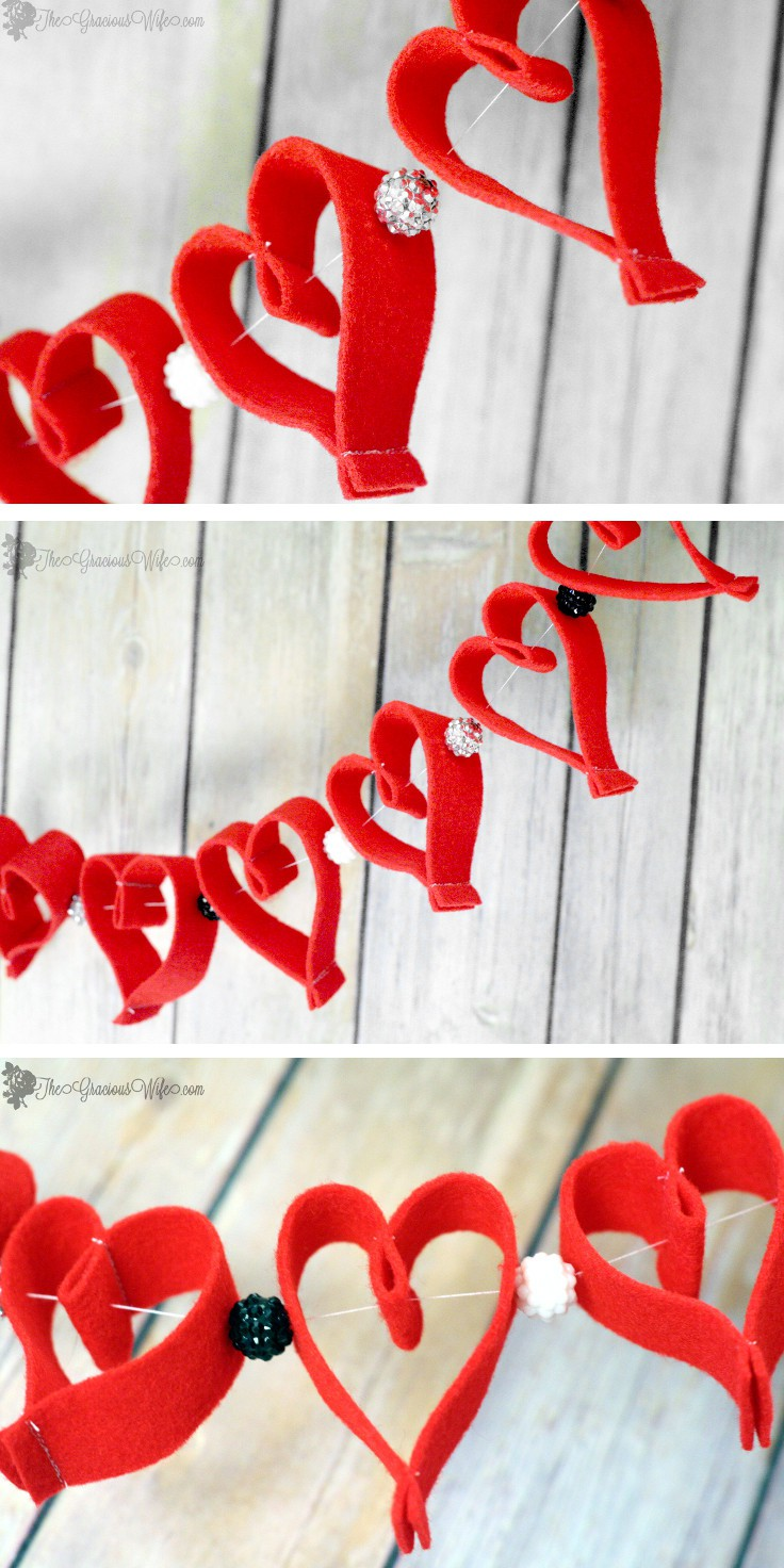 Valentine S Day Heart Felt Garland The Gracious Wife