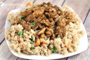 This Easy Chicken Teriyaki Recipe is a quick and easy dinner idea that the whole family will love. From TheGraciousWife.com #recipe #chicken