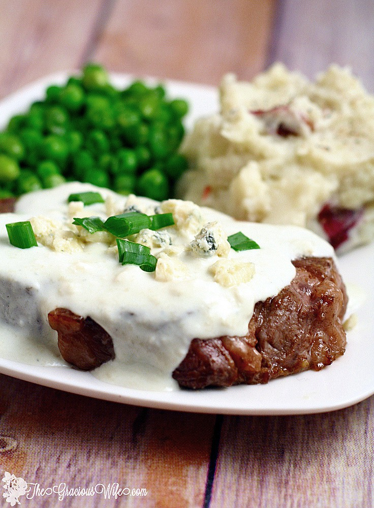 Steak With Creamy Gorgonzola Sauce The Gracious Wife