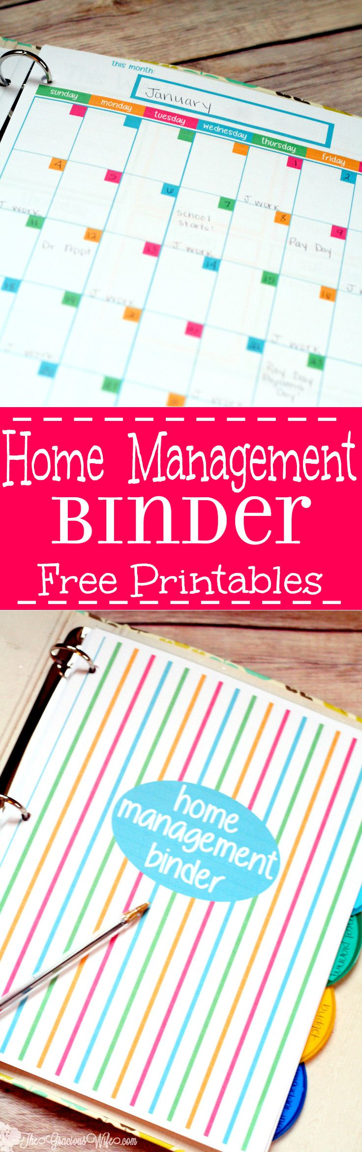 photo regarding Life Binder Printables referred to as House Handle Binder - Free of charge Printables The Gracious Spouse