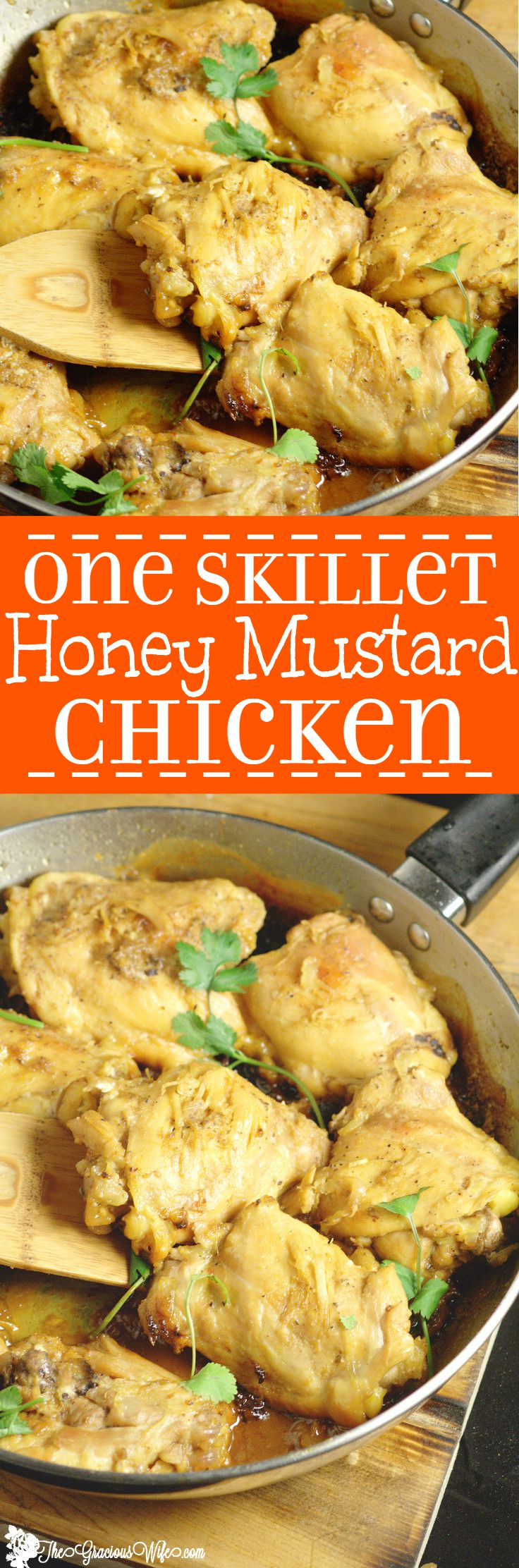 Easy Honey Mustard Chicken Recipe- A sweet and tangy quick and easy dinner idea recipe. Make it all in 30 minutes in one pot!! So good!
