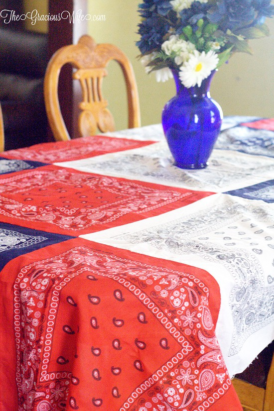 Easy Diy Bandana Tablecloth The