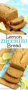 Lemon Zucchini Bread Recipe - a classic zucchini bread recipe with an extra kick of lemon. Delicious and refreshing! My kids absolutely love this recipe! And it's an awesome breakfast idea too!