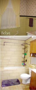 Our FULL DIY bathroom remodel. We redid everything in the bathroom from the plumbing and walls to totally revamping the bathroom decor and tile and adding lots of bathroom storage. | bathroom ideas