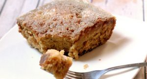 Easy Pear Cake Recipe - a homemade easy dessert cake recipe that turns out rich and moist. The easiest cake you can make from scratch!