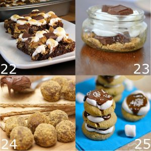 Gooey, melty, sweet Smores Dessert Recipes from donuts and coffee, to cupcakes and cheesecakes. Amazing Smores Dessert Recipes for all Summer long!