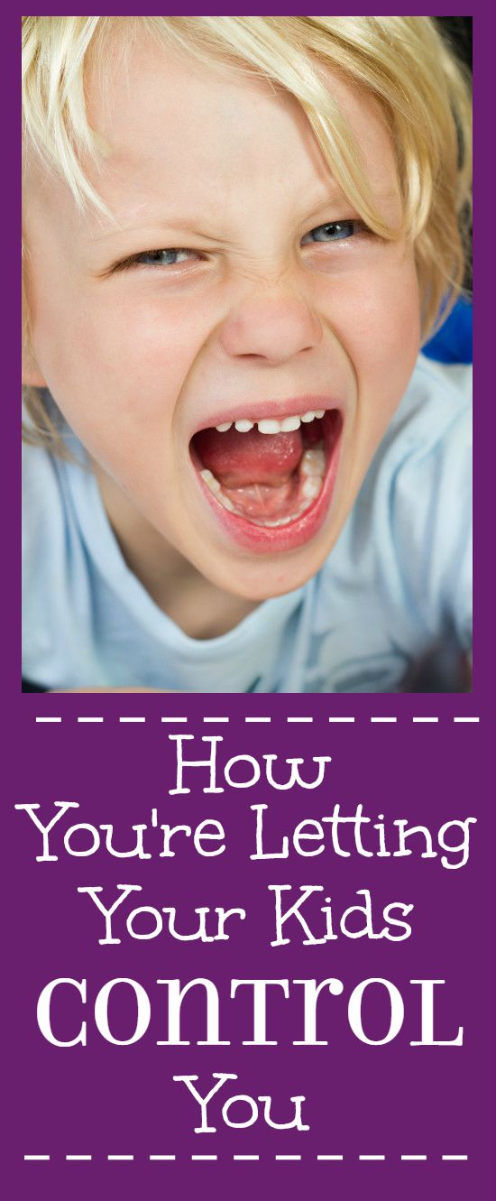 How You're Letting Your Kids Control You - What you're doing to show your kids that they have control over you and how to stop. | parenting tips | parenting advice