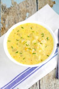 Crockpot Cheesy Potato Soup recipe is a warm classic potato soup recipe with tender potatoes, gooey cheese, and lots of creamy flavor. Serve with warm crusty bread for the perfect dinner. Mmm... Looks amazing!