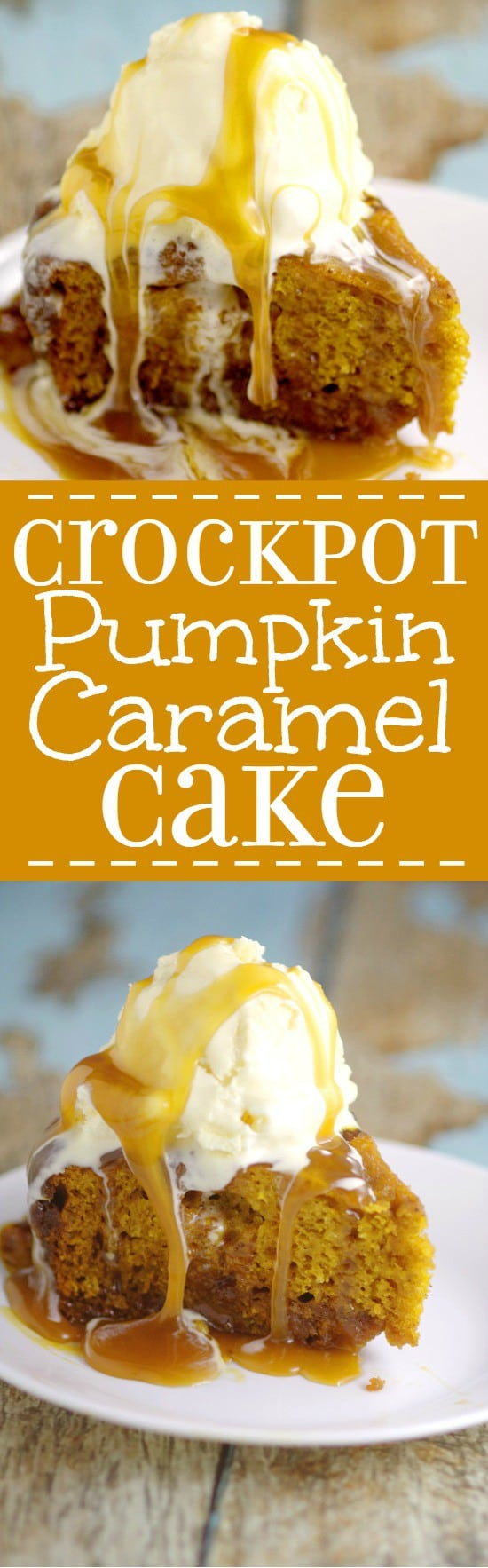 Pumpkin Pecan Crock Pot Cake