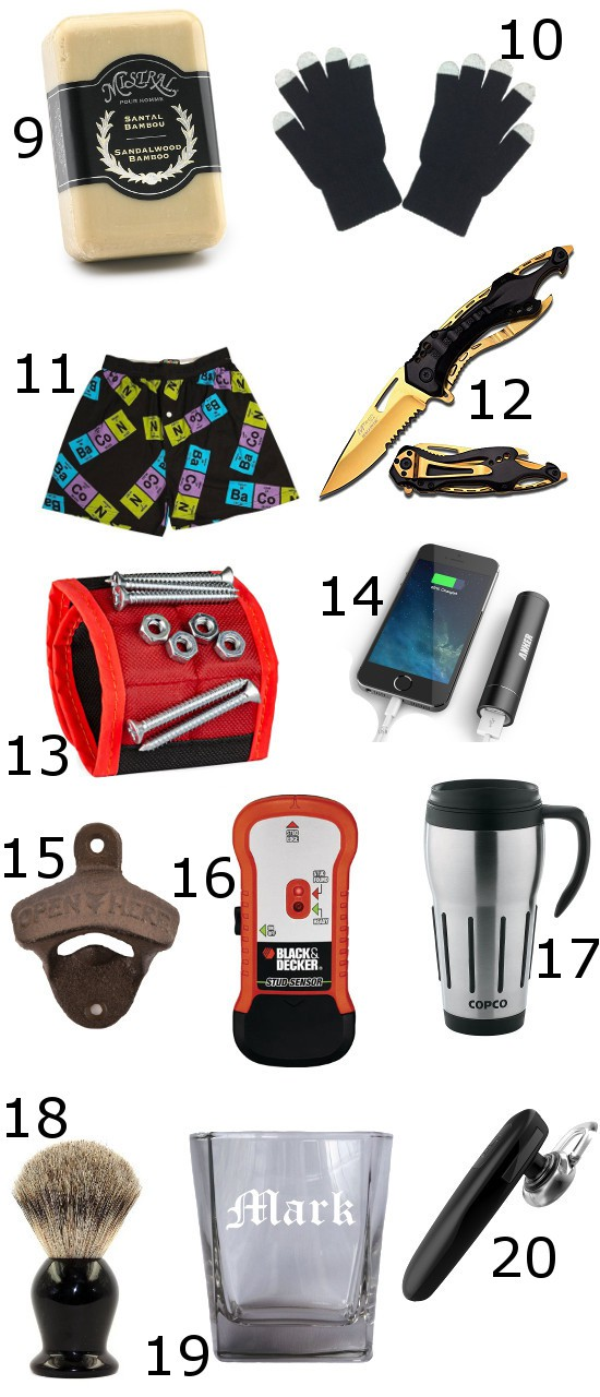 christmas gifts and stocking stuffers ideas for men 25 stocking stuffer ideas for men