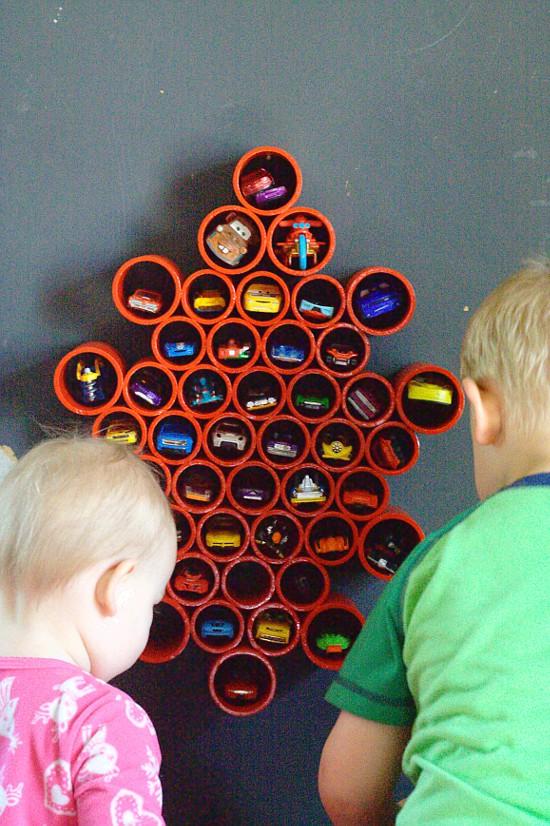 DIY Toy Storage Idea And DIY Toy Organization Idea For The Playroom.  Organize All Of