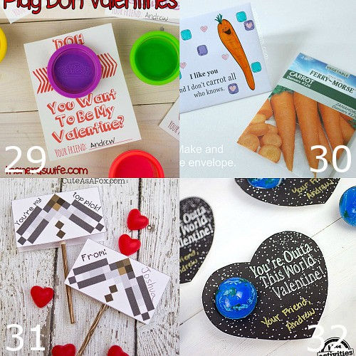 40 DIY Valentines Ideas for Kids to Make for School. Get inspired for Valentine's Day with these adorable DIY Valentines for Kids with free printables to make Valentine's Day easy and even more special. Cute! Now to decide which one to use...