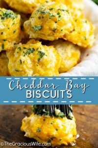 Copycat Red Lobster Cheddar Bay Biscuits are soft, fluffy, cheesy, garlicky, and EVEN BETTER than the originals. This homemade from scratch recipe is super easy to make in less than 30 minutes! #biscuit #redlobster