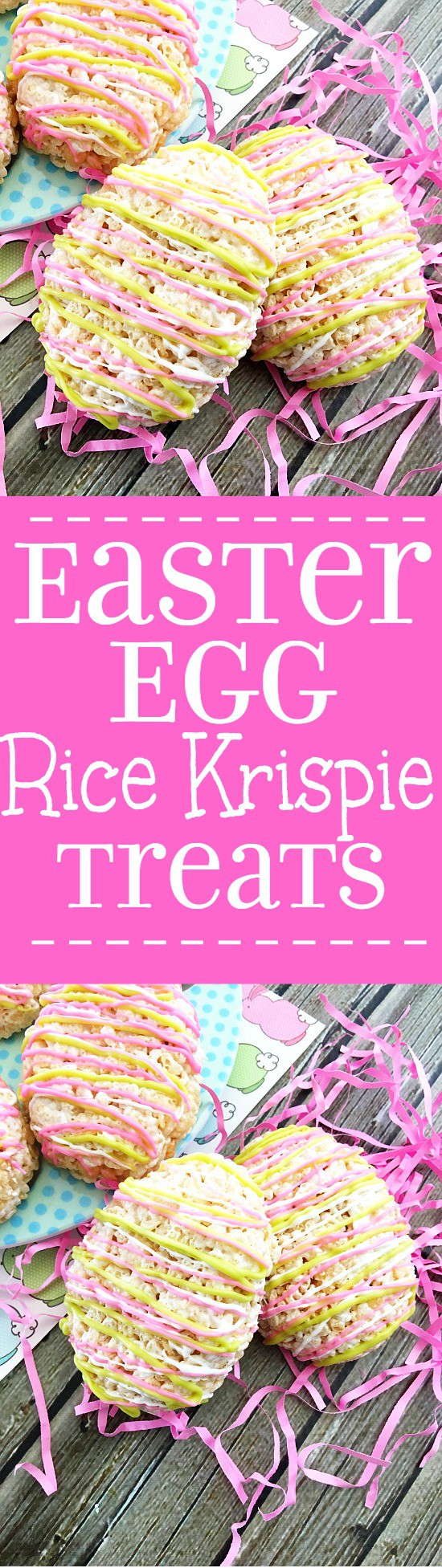Easter Egg Rice Krispie Treats - Cute, bright Easter Egg Rice Krispie Treats are a fun and easy no bake Easter dessert recipe that can be made in just 20 minutes. The kids will love these!
