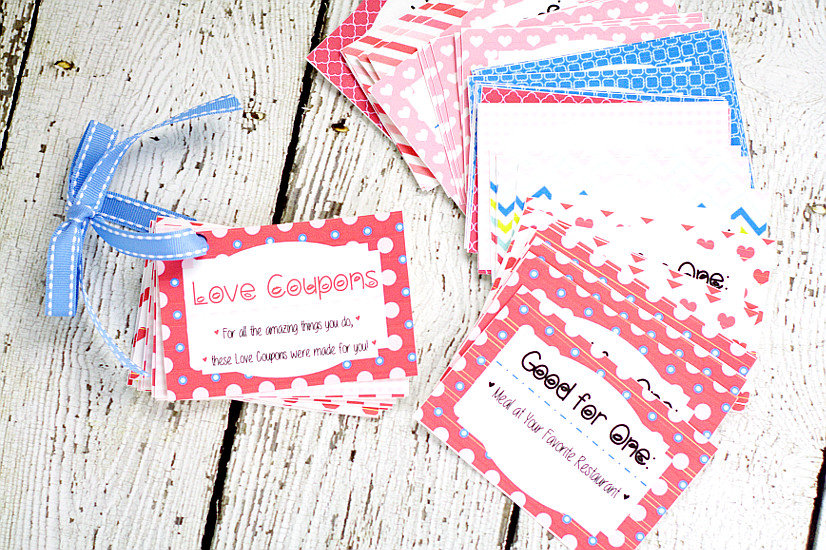 free diy printable love coupon book for him makes a perfect loving gift for your