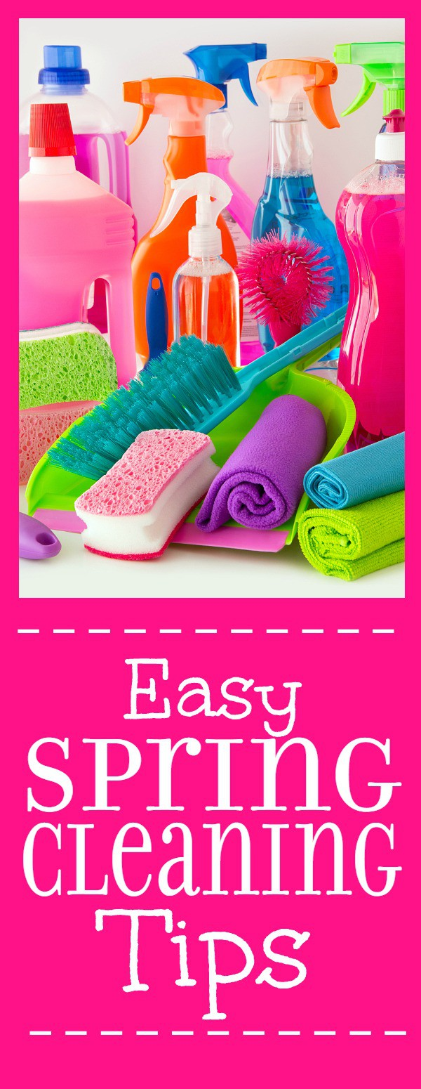 15 Easy Spring Cleaning tips to get your cleaning done faster and more effectively. Don't let Spring Cleaning overwhelm you! Get it done quickly and easily with these 15 Easy Spring Cleaning Tips.