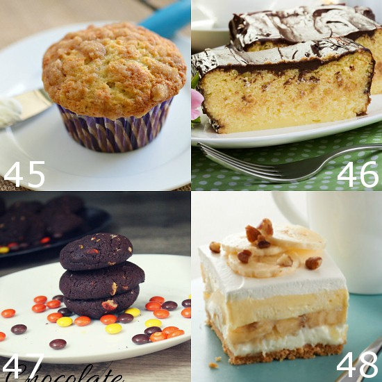 92 Yummy Recipes with Bananas -Bananas are a food that everyone can enjoy. Make them even more delicious with these 92 Yummy Recipes with Bananas, from banana cakes and muffins to banana pies and ice cream and more! So many easy and delicious ideas!
