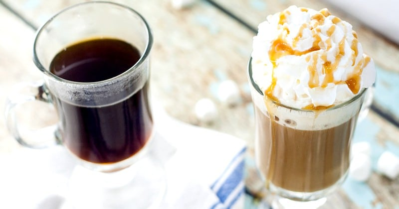 Homemade Caramel Marshmallow Coffee Creamer recipe - Light and creamy marshmallow and decadently sweet caramel swirl together to make this Homemade Caramel Marshmallow Coffee Creamer perfect for your next cup of coffee. Sounds like coffee creamer heaven!