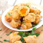 Deep Fried Cheese Bites recipe - Crispy, cheesy Deep Fried Cheese Bites in a flavorful beer batter make a perfect snack, appetizer, or even a side to your favorite burger. A cheese lover's dream! Love this for an easy appetizer recipe.