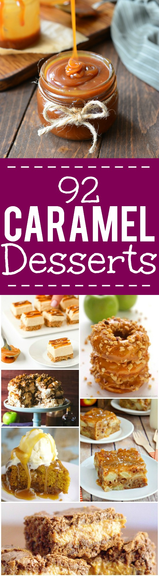 92 Caramel Desserts Recipes - 92 of the BEST scrumptious and decadent caramel desserts recipes that are totally drool-worthy.  Make these gooey, sweet caramel recipes and indulge your sweet tooth! Wow! These look amazing! Can't decide which one I want to try first!