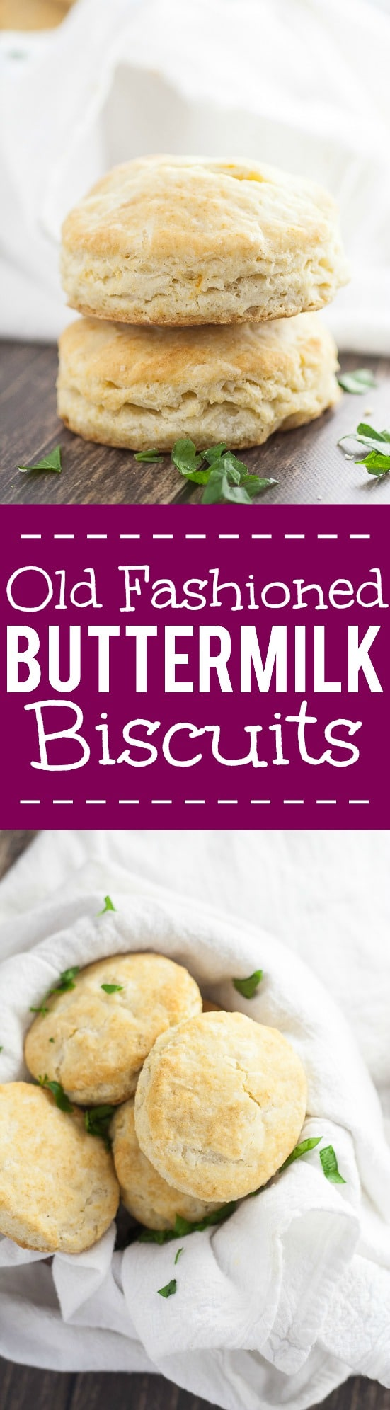 Old Fashioned Buttermilk Biscuits Recipe - Fluffy, flaky Old Fashioned Buttermilk Biscuits recipe is easy to make and is a golden, delicious crowd pleaser! They're so simple and will never disappoint! These flaky, buttery biscuits are perfect for a Thanksgiving side dish or for biscuits and gravy.