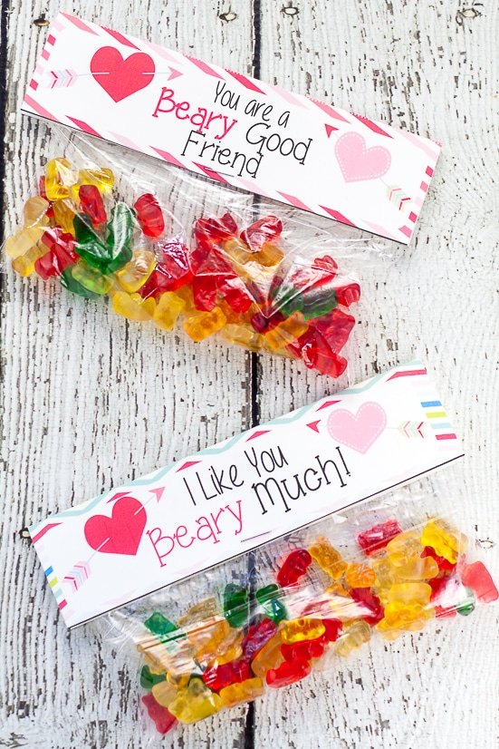 image regarding Gummy Bear Printable titled Printable Gummy Undergo Valentines The Gracious Spouse