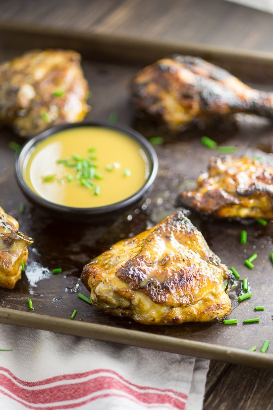 Grilled Maple Dijon Chicken Recipe -Sweet and tangy maple dijon sauce smothered on crispy, grilled chicken to make one amazing Grilled Maple Dijon Chicken recipe for dinner! Perfect and EASY Summer grilling recipe with just 5 ingredients!