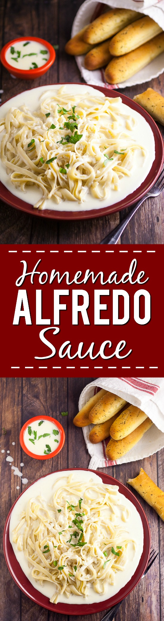 Homemade Alfredo Sauce Recipe - Make this rich and creamy Homemade Alfredo Sauce recipe that tastes as amazing as your favorite Italian restaurant, right in your own kitchen so that you can eat it whenever you want!