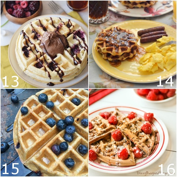 64 Waffle Recipes -Learn how to make your favorite breakfast 64 different ways from scratch with these 64 Waffle Recipes, including easy recipes for everything from healthy or gluten free to buttermilk, cinnamon roll, and more! A waffles recipe for everyone to love!