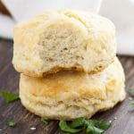 Easy, flaky 5 Ingredient Biscuits Recipe - No need to be intimidated by making biscuits with this quick and easy 5 Ingredient Biscuits with just five simple ingredients for flaky delicious biscuits!