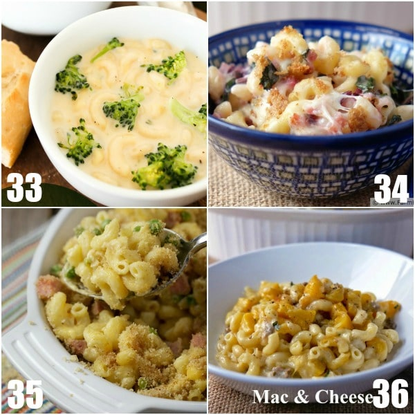 68 Mac and Cheese Recipes - 68 Mac and Cheese Recipes that everyone will love! Gooey, cheesy, and delicious these unique mac and cheese recipes are guaranteed hits!  So many homemade macaroni and cheese recipes! Baked, crockpot, ctovetop, classic, easy, creamy, southern, and so much more! OMG. I love macaroni and cheese!
