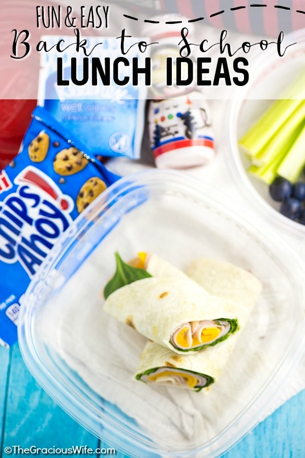 Super Fun and Easy School Lunch Ideas for Kids - Get ready for the school year with these super fun and easy school lunch ideas for kids that are healthy (AND they can actually pack themselves!). You can even prep and make ahead these healthy lunches! Plus, find three extra ways to add a little fun and a big smile to your child's school lunchtime!