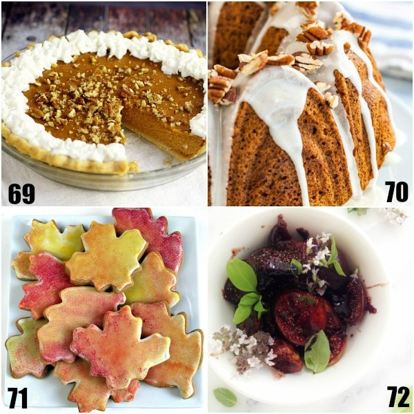 128 Fall Dessert Recipes - 128 unique Fall Desserts recipes with apples, cinnamon, pumpkin and more. Find amazing cakes, cupcakes, cookies, pies, and cobblers that will warm you up and get you into the Fall spirit! Simple and easy Fall recipes to get you in the Fall spirit with apple, pumpkin, and more! Yum! I LOVE Fall baking!