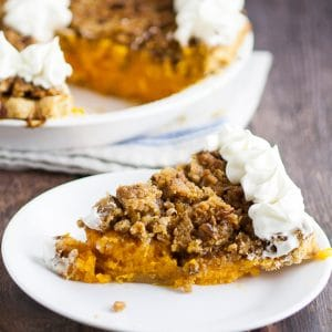 Sweet Potato Pie with Crumble Topping