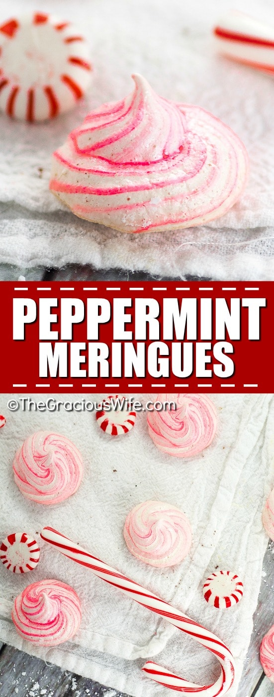 Peppermint Meringues Recipes - Easy and light Peppermint Meringues make a delicious and festive addition to your holiday table or your Christmas cookie exchange.