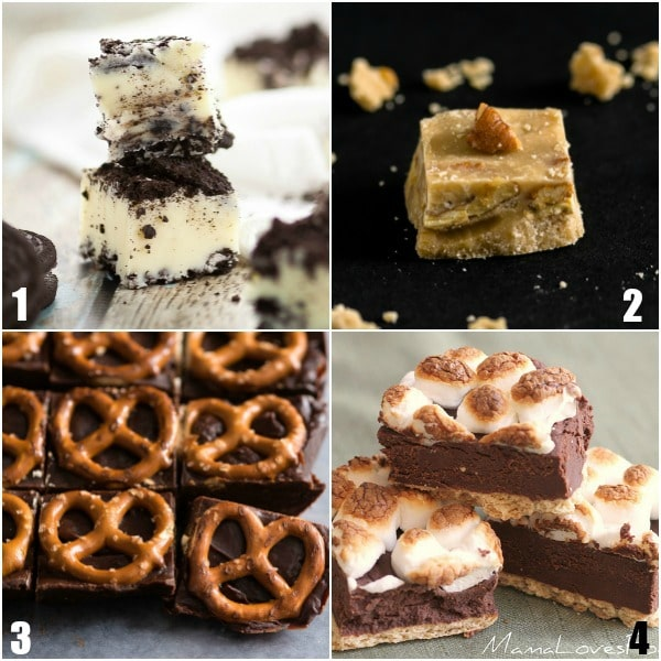 64 Fudge Recipes -These 64 Fudge Recipes are the BEST out there with classic favorites like old fashioned chocolate or peanut butter, Christmas originals, cookies and cream, maple, and many more delicious originals! Fudge recipes for everyone to enjoy and even give as gifts!