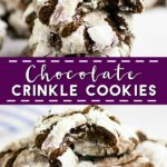 Chewy fudgy Chocolate Crinkle Cookies are pretty and easy to make. They're rich and decadent and are perfect for cookie exchanges!