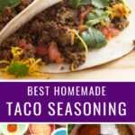 This is the BEST zesty Homemade Taco Seasoning. It can be made in minutes, and it's preservative-free, gluten free, and easily customizable. Make it with ingredients you probably already have on hand!